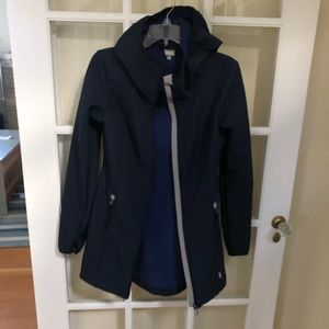 Bench Navy Softshell Trench w/ thumbhole sleeves